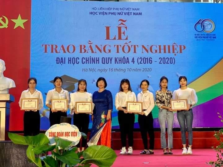 """Sinh viên Học viện Phụ nữ Việt Nam đạt giải Ba """"Sinh viên nghiên cứu khoa học năm 2020"""""""