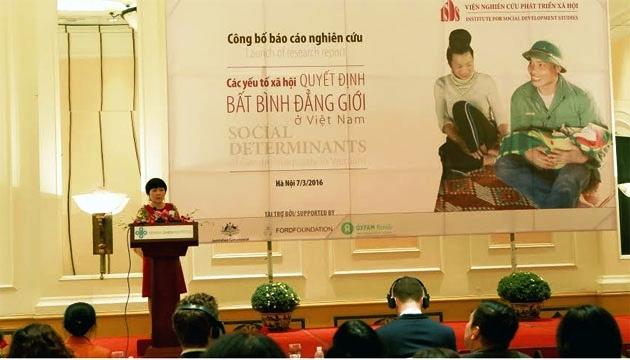 """Hội thảo công bố kết quả nghiên cứu """"Các yếu tố văn hóa xã hội quyết định bất bình đẳng giới ở Việt Nam"""""""
