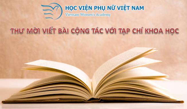 Thư mời viết bài cộng tác Tạp chí Khoa học Học viện Phụ nữ Việt Nam