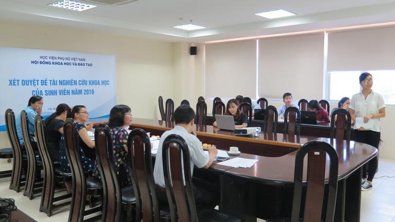 Nâng cao chất lượng nghiên cứu khoa học của sinh viên Học viện Phụ nữ Việt Nam