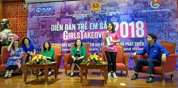 Diễn đàn trẻ em gái năm 2018: Thúc đẩy quyền của trẻ em gái để thay đổi và phát triển
