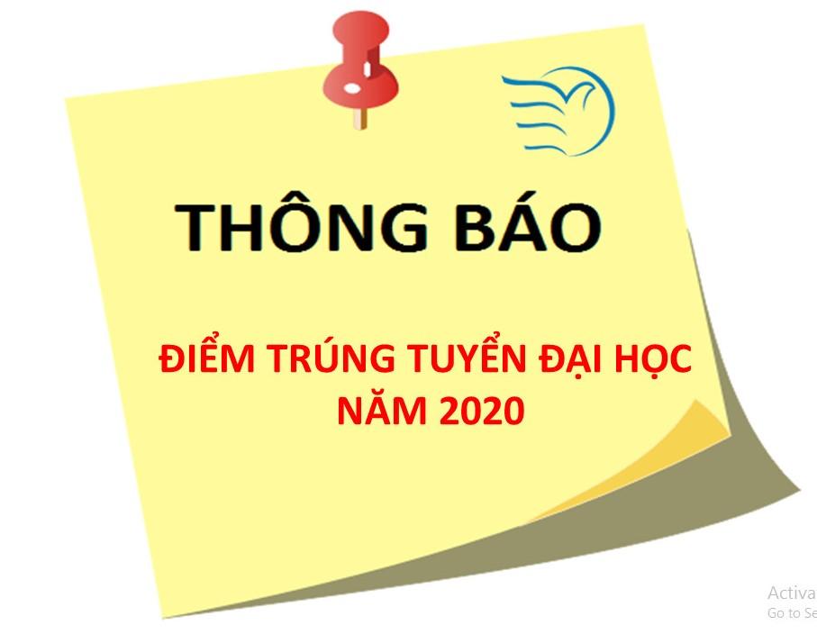THÔNG BÁO ĐIỂM TRÚNG TUYỂN ĐẠI HỌC NĂM 2020