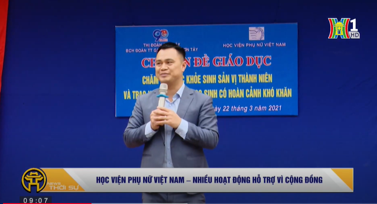 Đài TH Hà Nội: Hoạt động hướng tới cộng đồng của Học viện Phụ nữ Việt Nam