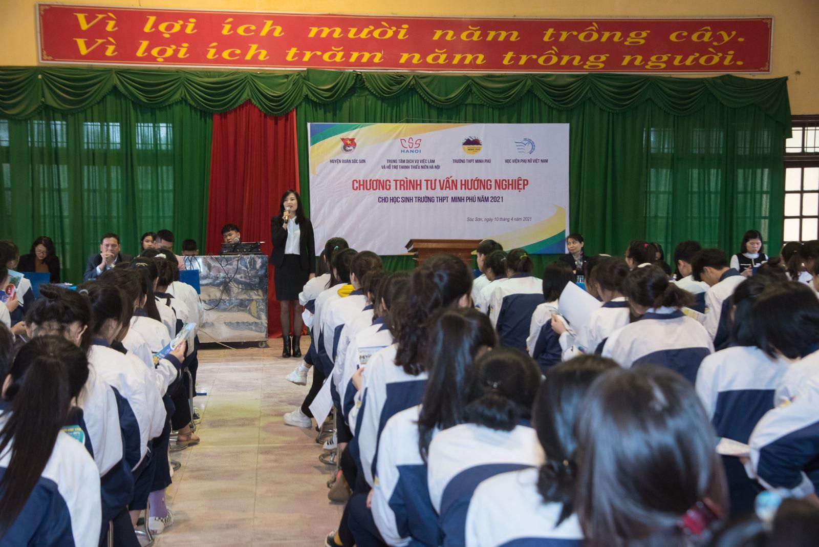Tư vấn hướng nghiệp tại trường THPT Minh Phú - Sóc Sơn - Hà Nội