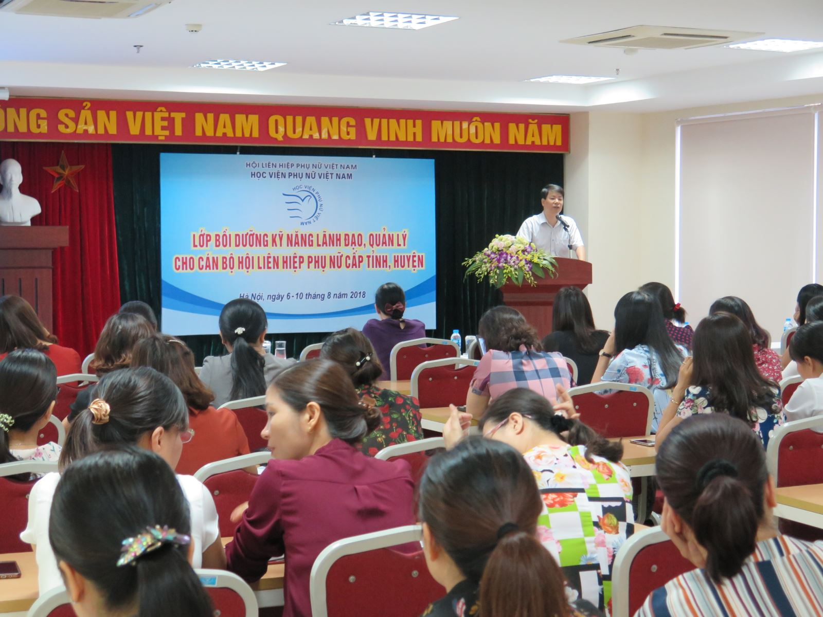 Khai giảng lớp bồi dưỡng kỹ năng lãnh đạo, quản lý  cho cán bộ Hội Liên hiệp Phụ nữ cấp tỉnh và huyện năm 2018