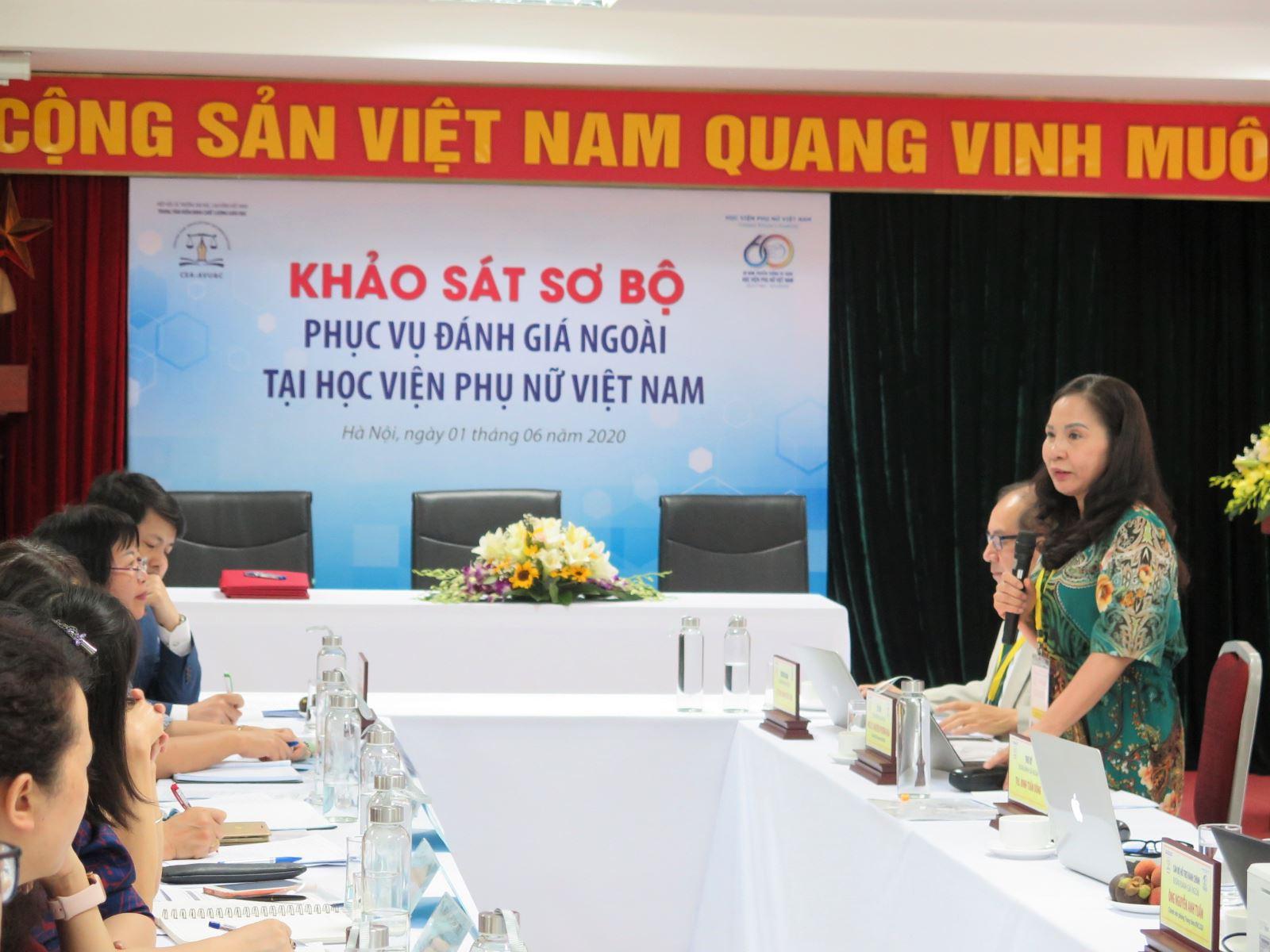 Công tác chuẩn bị hồ sơ phục vụ đánh giá ngoài tại Học viện Phụ nữ Việt Nam
