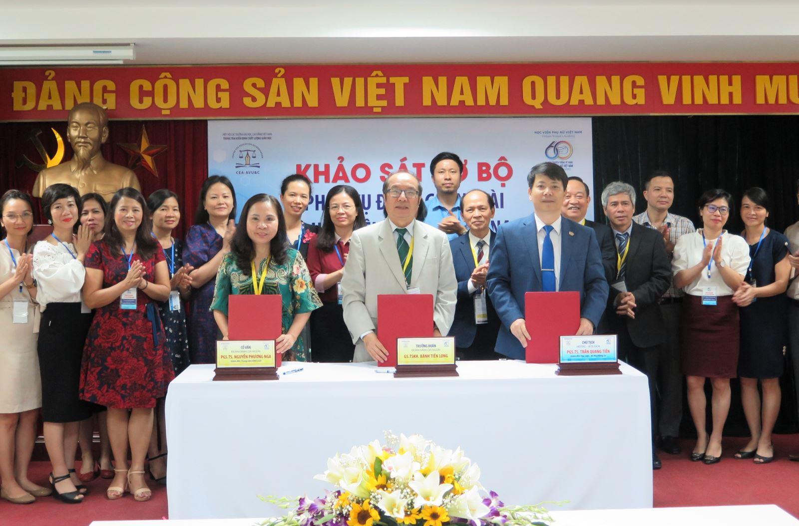 Trung tâm KĐCLGD Khảo sát sơ bộ phục vụ đánh giá ngoài CSGD Học viện Phụ nữ Việt Nam