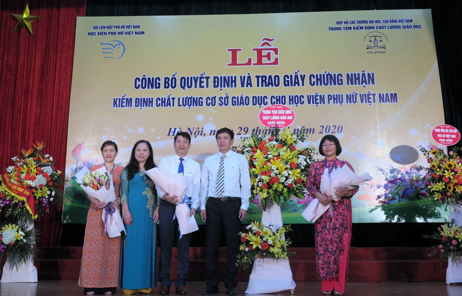 Quá trình Học viện Phụ nữ Việt Nam chuẩn bị đánh giá chất lượng giáo dục