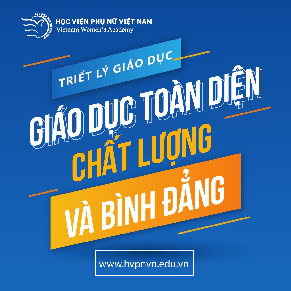 Triết lý Giáo dục của Học viện Phụ nữ Việt Nam