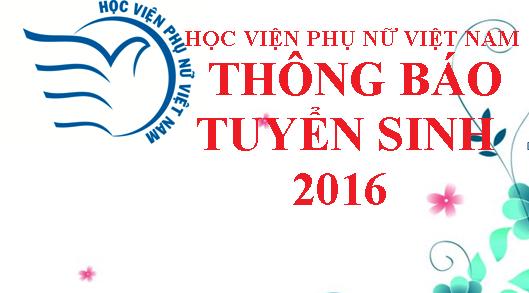 THÔNG BÁO TUYỂN SINH ĐẠI HỌC CHÍNH QUY 2016