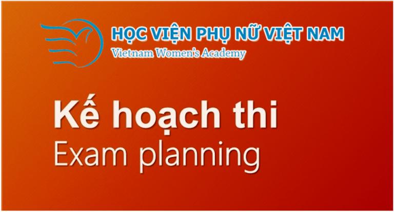 Kế hoạch tổ chức thi kết thúc học phần HKII