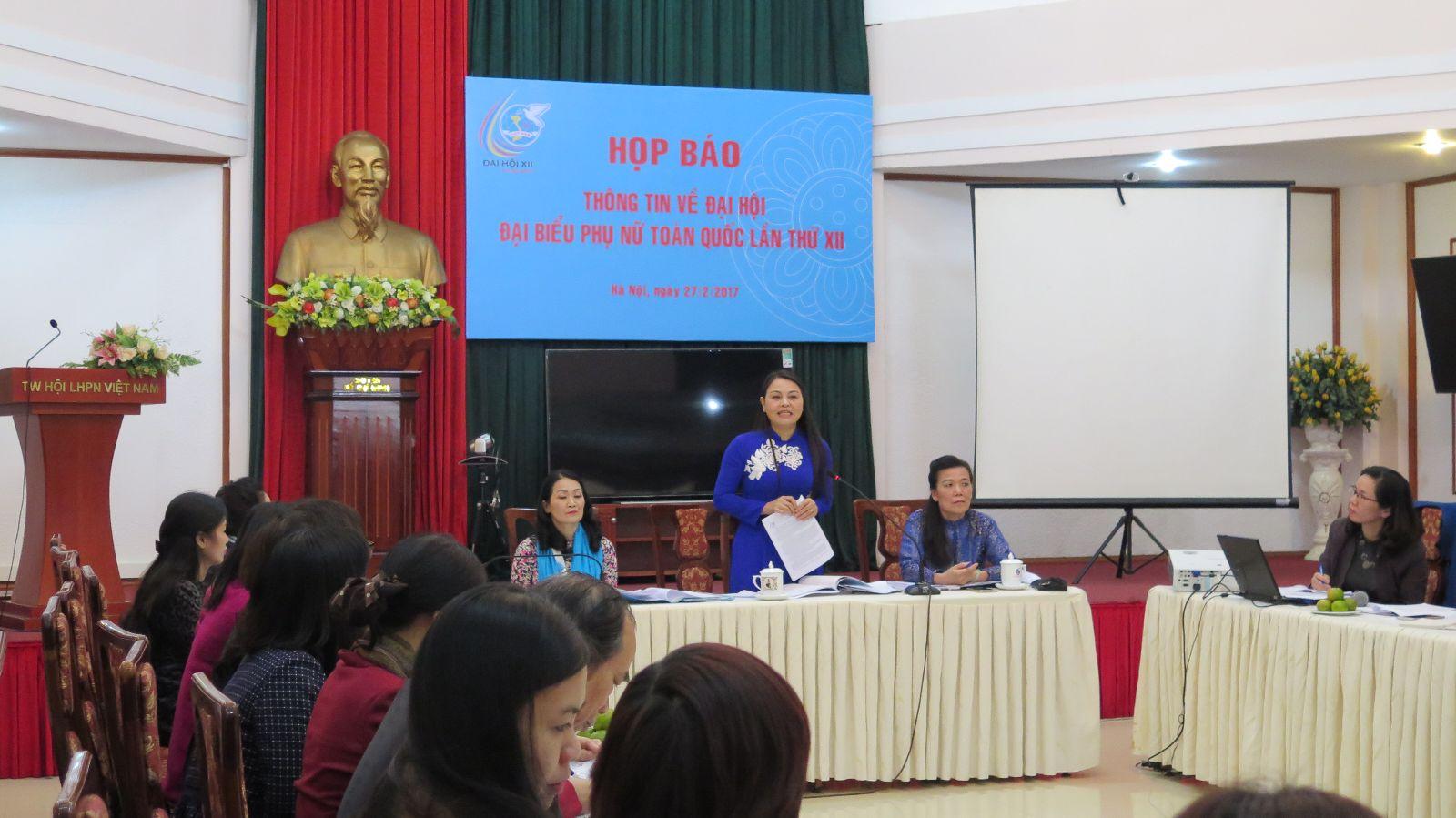 Mốt số thông tin về đại hội đại biểu phụ nữ toàn quốc lần thứ XII (nhiệm kỳ 2017-2022)