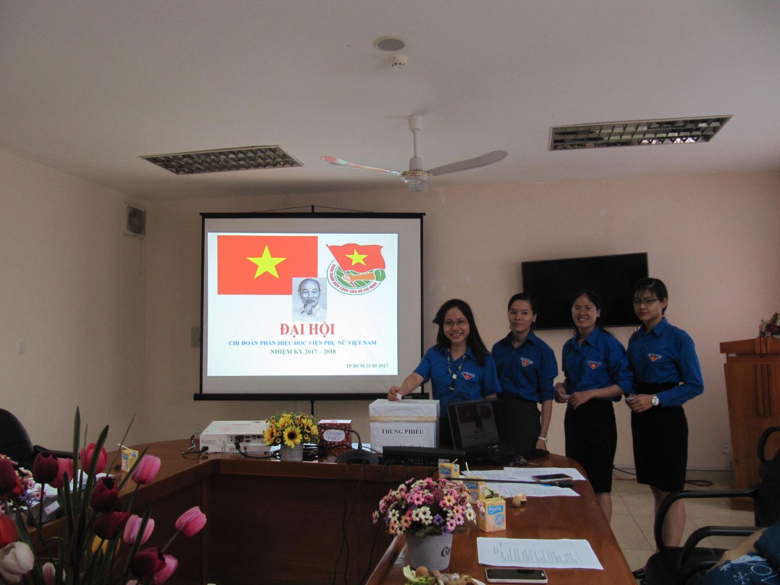 Đại hội đại biểu đoàn thanh niên cộng sản hồ chí minh phân hiệu học viện phụ nữ Việt Nam nhiệm kỳ  2017-2019
