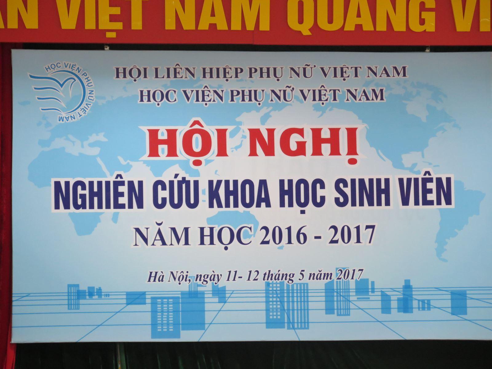 Công tác nghiên cứu khoa học sinh viên Học viện Phụ nữ Việt Nam năm học 2016-2017