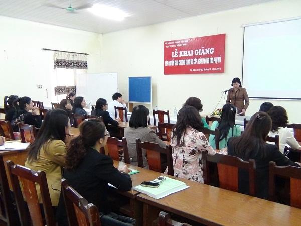 Khai giảng lớp Chuyển giao chương trình Sơ cấp ngành Công tác Phụ nữ