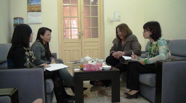 Học viện Phụ nữ Việt Nam tiếp đại diện ĐH Queensland (Australia)