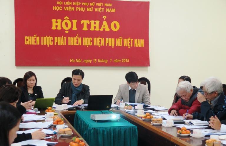 Hội thảo Chiến lược phát triển Học viện Phụ nữ Việt Nam
