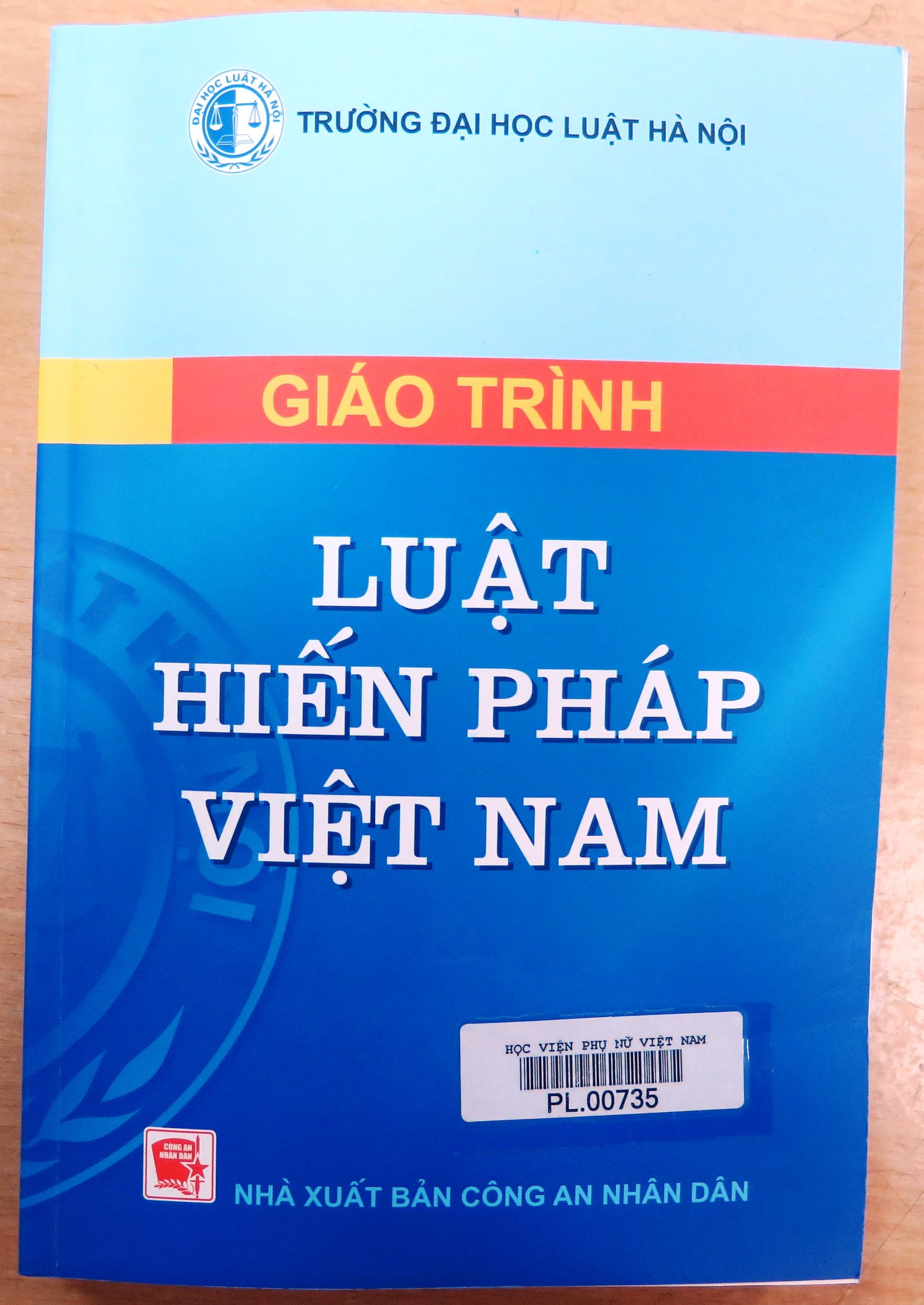 Giới thiệu sách: Giáo trình luật hiến pháp Việt Nam