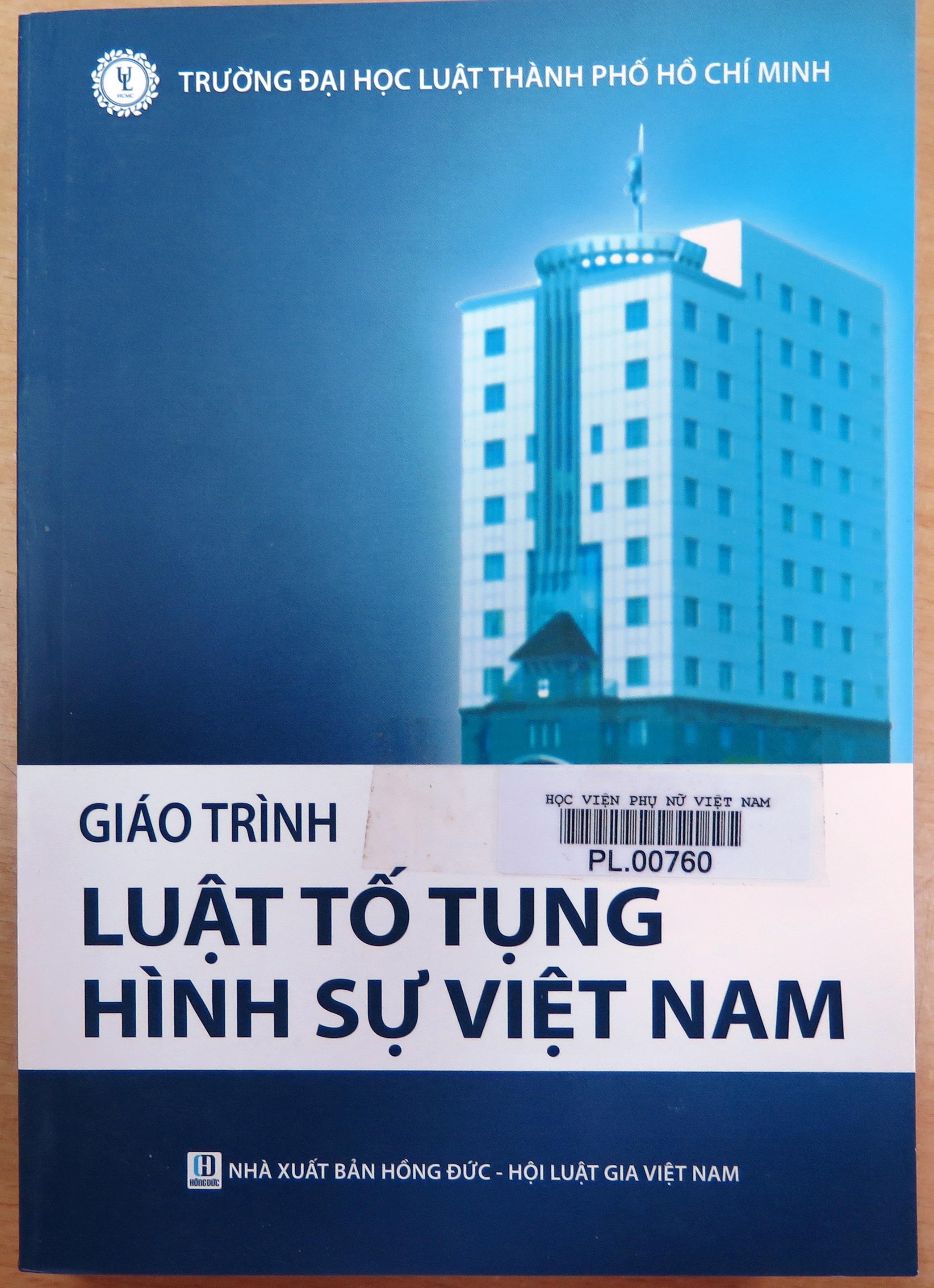 Giới thiệu sách: Giáo trình Luật tố tụng hình sự Việt Nam