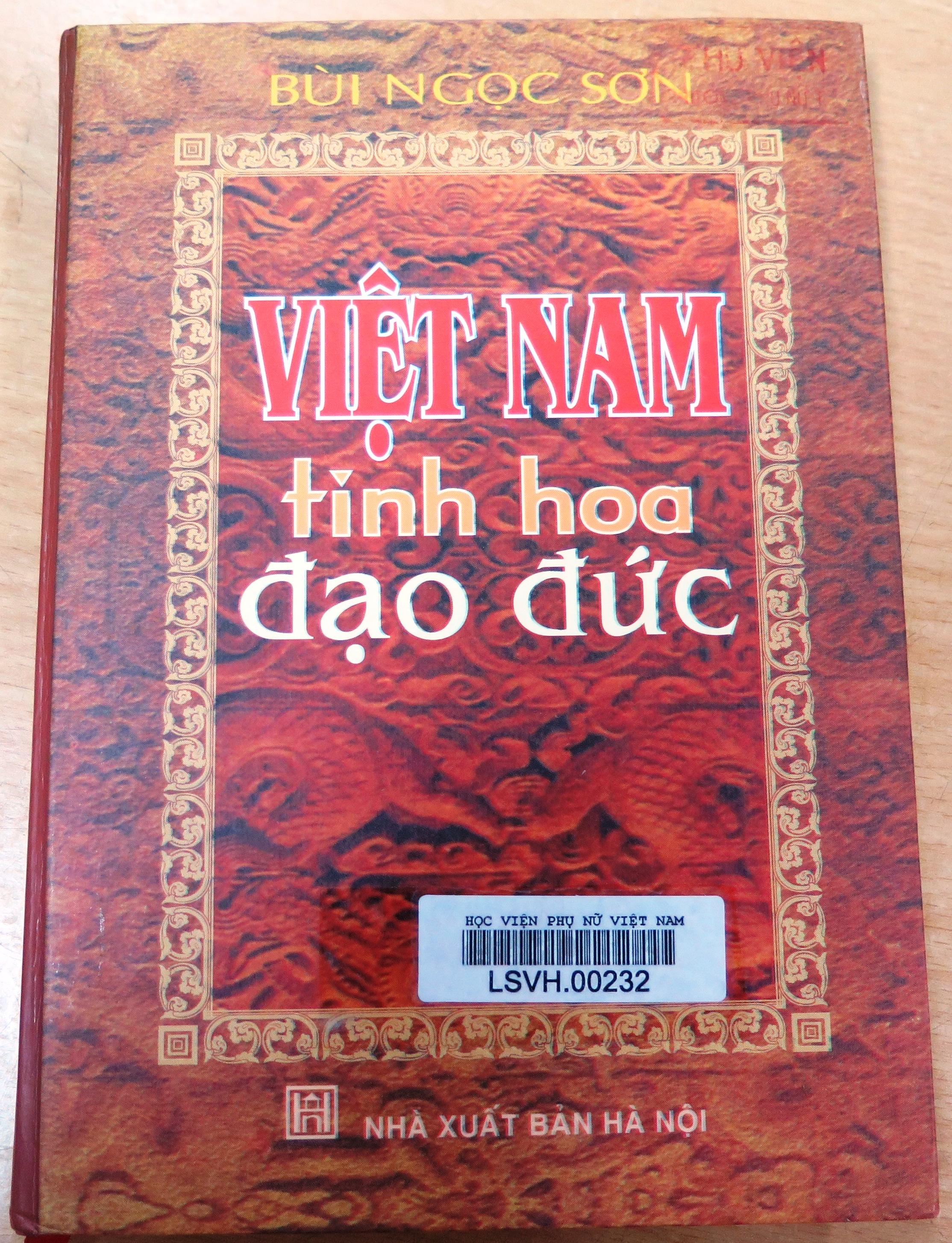 Giới thiệu sách: Việt Nam tinh hoa đạo đức