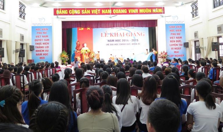 Học viện phụ nữ Việt Nam tổ chức lễ khai giảng năm học 2014 – 2015