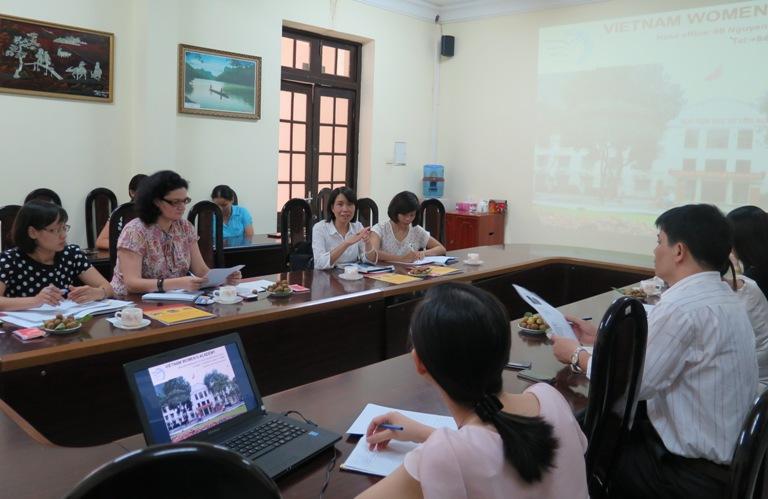 Lãnh đạo Học viện làm việc với đại diện tổ chức UN Women Việt Nam