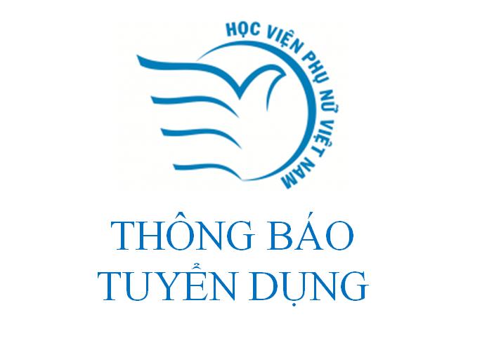 Học viện Phụ nữ Việt Nam tuyển dụng bổ sung năm 2017