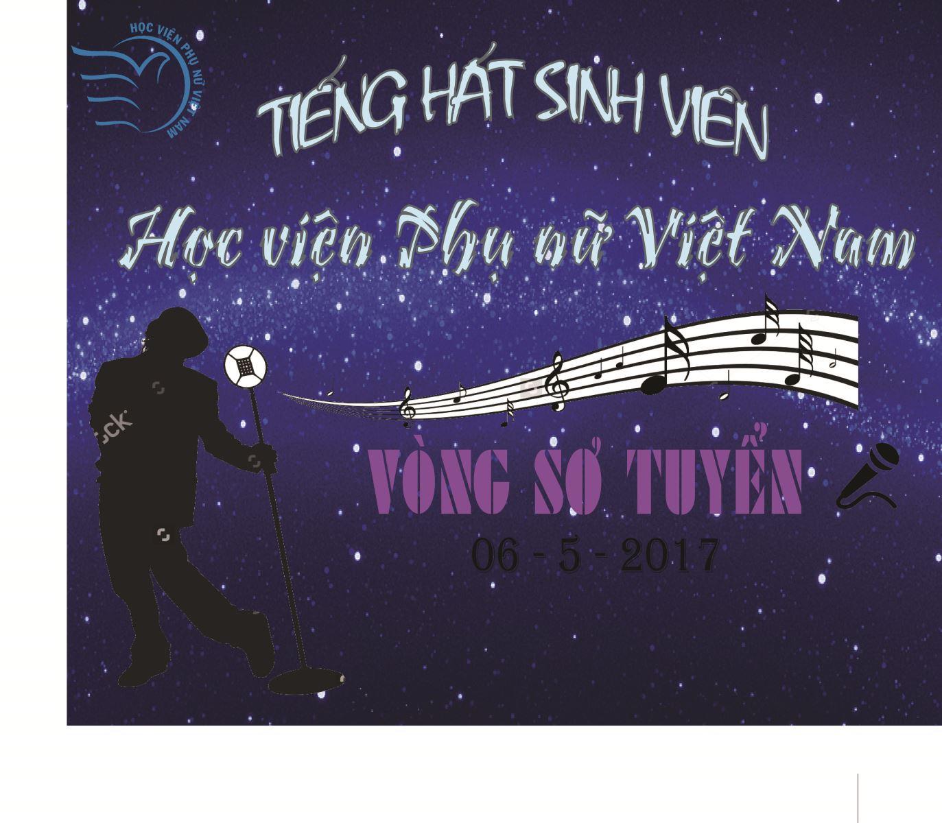 Kết quả Vòng sơ khảo Cuộc thi Tiếng hát sinh viên Học viện Phụ nữ Việt Nam lần thứ nhất, năm 2017