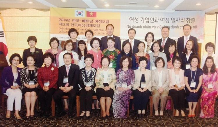 """Đoàn đại biểu Phụ nữ Việt Nam tham dự Diễn đàn """"Phụ nữ Việt Nam – Hàn Quốc"""""""